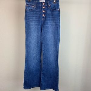 Madwell flea market flares high jeans, size 25